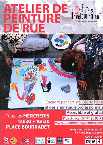 Agenda atelier enfant peinture de rue La Seyne
