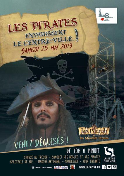 Les pirates envahissent le centre-ville de La Seyne