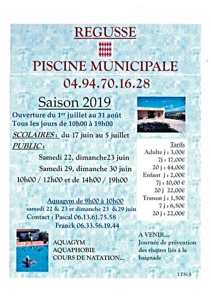 Piscine Municipale Régusse